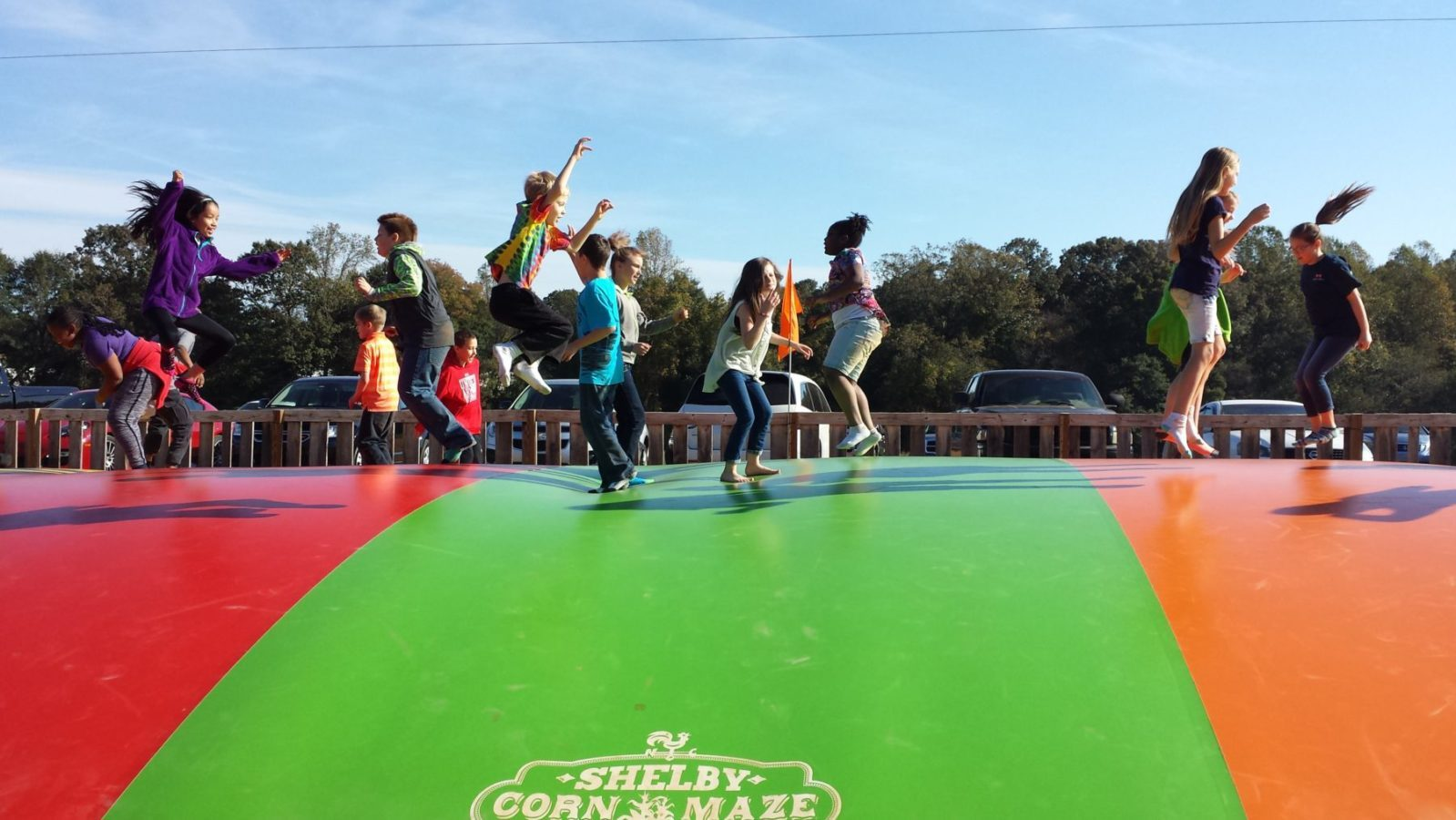 Event image of children playing on bouncy trampoline
